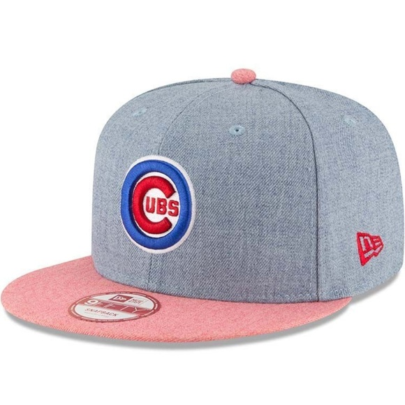 72aa6cd3a73 Chicago Cubs New Era MLB Heather Bullseye Snapback